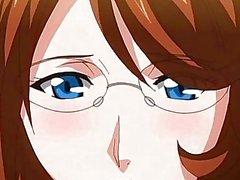 Anime hemşire yüz alma ve bir horoz alarak