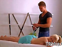 Massaging beautys smooth ass like a boss