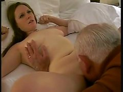 Young brunette babe fingering wet pussy