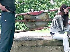 Ungt magra teen för flicka Offentlig Sex Bang Artikelnummer ett