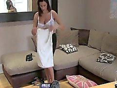 Géant seins Babe creampied sur casting bureau