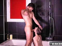 French twinks piss with facial cum
