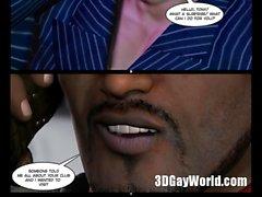 Mad Gangbang Orgy in Gay Club 3D Comics Hentai or Anime Cartoons