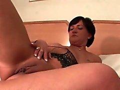 Sweet ass mature masturbating with vibrator