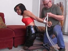 Monica Jade Tied By Her Neighbour