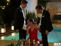 VIXEN Tori Black Takes on Two Cocks In After Party