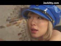 Cosplay Japanese Girl Loira Polícia
