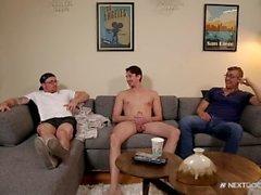 NextDoorBuddies Str8 Roomie Takes his First Cock