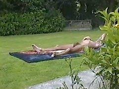 bain de soleil en dehors