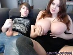 Teen BBW with big tits loves blowjob on cam EROINAOPcom