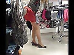 2 Pantyhose Ladies with amazing legs , upskirt!