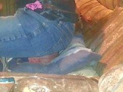 mein Freund in meiner neuen Jeans Facesitting