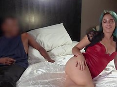 Slutty girl has an interracial fuck session with casting agent