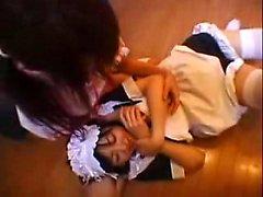 Bodacious japanischen Mädchen kümmern sich um ihre lesbische Wünsche