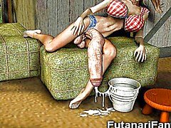 3D Трансвеститы и Футанари Girls !