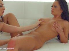 Banan eftermiddag efter Sapphic Erotica - lesbisk kärlek Porn med Rozalina älskar