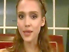 Jerk off in Jessica Alba's face