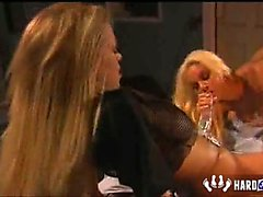 Jenna Jameson and Carmen Luvana strap on