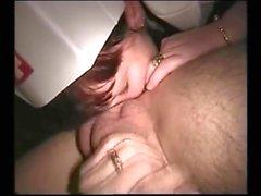 Nurse gives sexy blowjob,,..,,