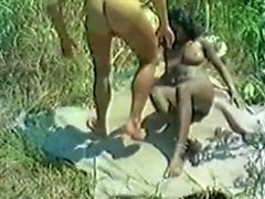 Interracial Outdoor Fucking Fantasier med Ebony Hoes