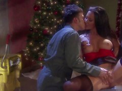 Its Christmas and Jayden Jaymes is giving her friend what hes always wanted