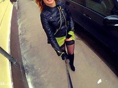 Jeny Smith öffentliche Nacktheit auf der Straße