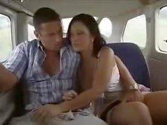 Большой анальный секс на борту самолета