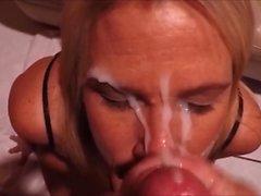 Pornstar milf Lisa Anns glory hole cumshot