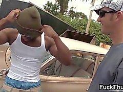black gay thug gets his tight poopshute segment