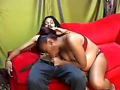 Pregnant ebony slut gets banged by BBC and rides it