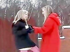 Cute Twin Sisters Fun