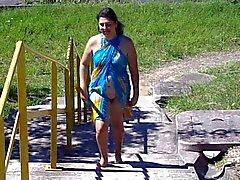 Бразилии жены мигание по пляжу