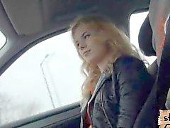 Lite ryska hitchhiker som knullas ut som ett proffs