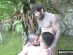 Brazilian son oral sex with cumshot