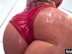 Christy Mack enjoys an oily pounding
