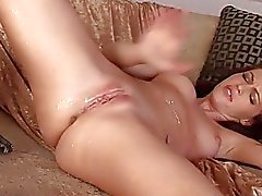 Jenna gets naked and masturbates until orgasm