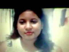 Siddheswari Mädchen-College-Nyma Orthy, das boobs zeigt