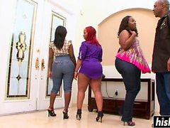 Ebony hottie likes to jump on a dick