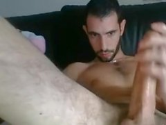 Sexy French Guy Edging With Cockring