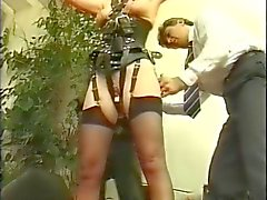 Two french slaves dominated by two masters PART3