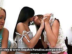 Aly y el de Irie de Ana de Irene amateurs lesbian girls besando masturbándose