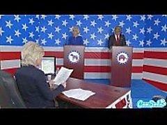 Дональда Трампа и США Хиллари Клинтон трахая Берни Экклстоуна Сэндерс а меган по прези Kelly