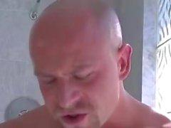 Diversión caliente en la ducha