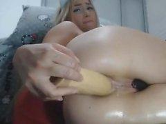 Bathtub Teen Anal Pussy Dildo Masturbaatio