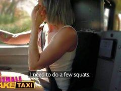 Nainen Fake Taxi Horny kuljettajan cums upeissa kuntosaleissa