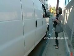 Niedlich schlanken touristischen kdnapped von der Gassen