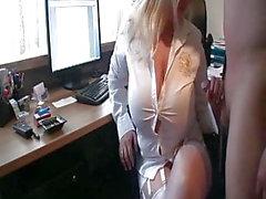 peeing on big tit girl