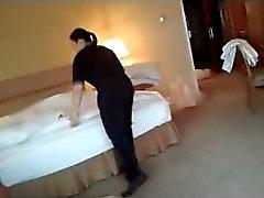 Flashin hotel maid. Part 3. Wank