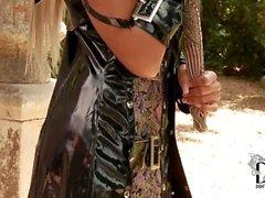 Ashley Bulgari Samurai In Crotchless Panties