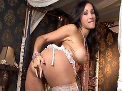 Görünüm Katsumi Sexy Lingerie Ve çorap içinde Masturbates
